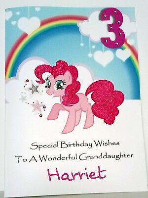 My Little Pony Personalised Birthday Card Daughter Sister Granddaughter Niece  • 2.99£