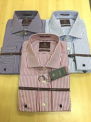 EX-M&S  Mens LUXURY  SUPERIOR 2 FOLD COTTON  French & Button Cuffs SHIRTS • 10.99£