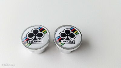 $8.90 • Buy Vintage Style COLNAGO Handlebar End Plugs White