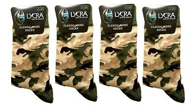 Men's Camouflage Army Style Crew Length Ankle Socks Everyday Use Military Lot • 10.99£