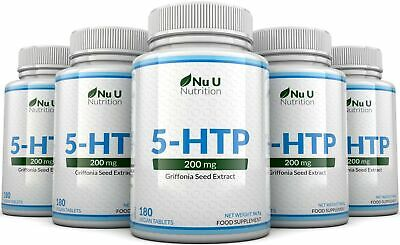 AU78.61 • Buy 5HTP 200mg 5 Bottles 900 Tablets UK Manufactured 100% Money Back Guarantee Nu U