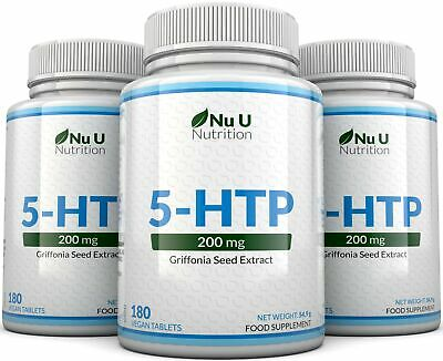 AU53.39 • Buy 5HTP 200mg 3 Bottles 540 Tablets UK Manufactured 100% Money Back Guarantee Nu U