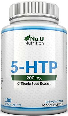 AU19.25 • Buy 5 HTP 200mg 5-HTP 180 Tablets 5htp Natural Serotonin Sleep Stress Anxiety