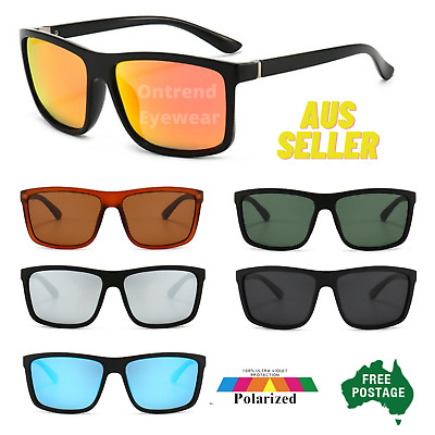 AU15.99 • Buy Polarized Mens Sunglasses Polarised New Style Square Frame Glasses Aus Seller