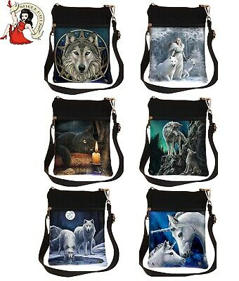 Nemesis Now Shoulder Bag Anne Stokes Fairy Wolf Unicorn Witching Cat Parker • 13.99£