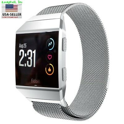 $ CDN12.01 • Buy Milanese Loop Mesh Wrist Watch Band For Fitbit Ionic Stainless Steel Metal Strap