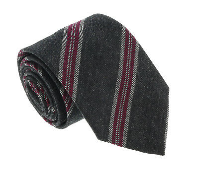$45.99 • Buy Missoni U5144 Gray/Fuschia Regimental 100% Silk Tie