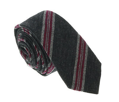$45.99 • Buy Missoni U5144 Gray/Fuschia Awning 100% Silk Tie