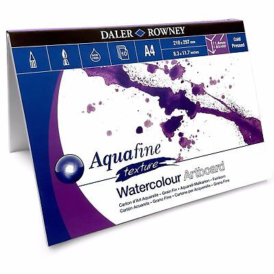 £14.99 • Buy Daler Rowney Aquafine Watercolour Painting Art Board Pad - 10 Sheets - A4 Or A3