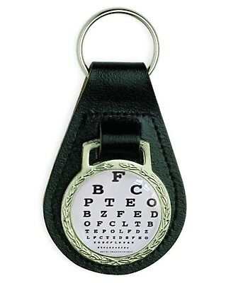 Optician Eye Chart Optical Glasses Leather Keyring • 3.49£