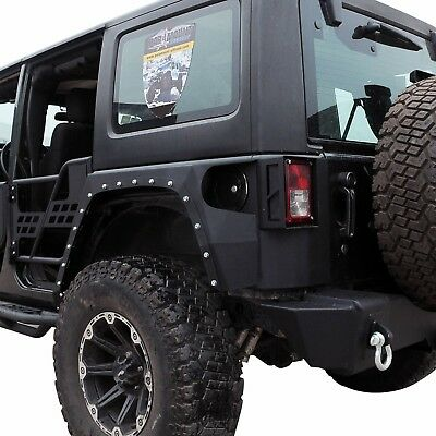 AU1250 • Buy Jeep JK Wrangler 07~17 Evolution Style Steel Rear Fender Flares Guard