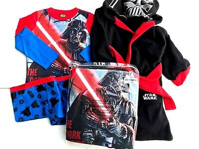 Boys Star Wars Darthe Vader X Store Pyjamas And Dressing Gown Sets • 8.99£