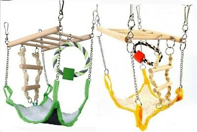 Suspension Bridge With Hammock Ladder Swing Hamsters Gerbils Rats Mice • 12.12£