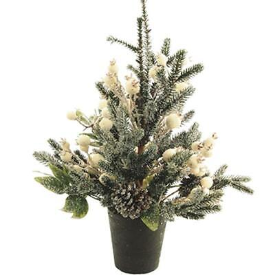 Winterberry Fern Table Tree Decoration - Christmas Centrepiece • 11.99£