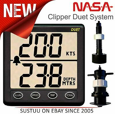 £191.04 • Buy NASA Marine Clipper Duet With Paddlewheel & In Hull Transducer│Speed-Di/Log/Echo
