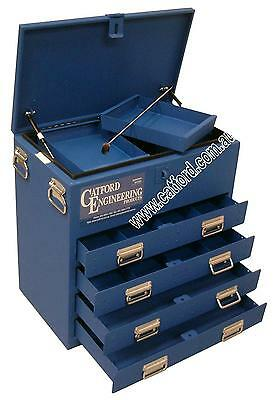 AU892 • Buy Tradesman Ute And Truck Toolbox, Heavy Duty Tool Box, 4 Drawer Flat Top Blue