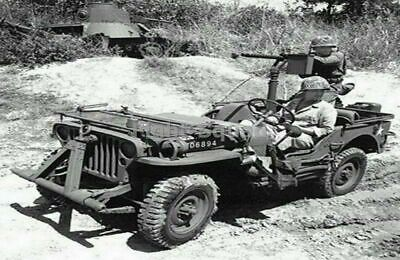 $4.95 • Buy WW2 Picture Photo Pacific 1943 Jeep Browning M1919 Machine Gun 2349
