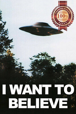 AU19.95 • Buy I Want To Believe The X-files Ufo Photo Original Tv Show Print Premium Poster