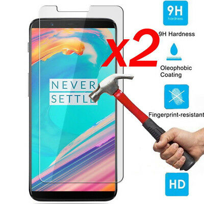 AU2.79 • Buy 1/2x 9H Premium Tempered Glass Screen Protector Film For Oneplus 5T 6 Inch #LA