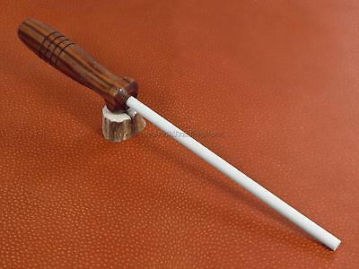 $11.99 • Buy Arkansas Ceramic Rod Knife Sharpener Stick Walnut Wood Handle Made In USA AC48