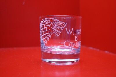 £12 • Buy Laser Engraved Tumbler Game Of Thrones Stark Dire Wolf Design Whisky Is Coming