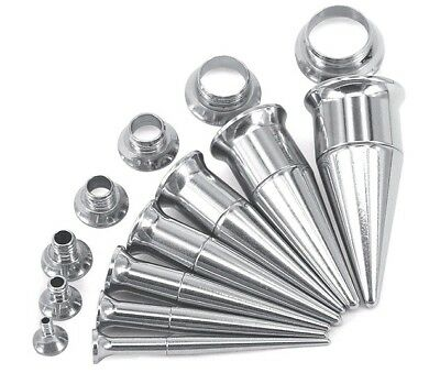 AU5.89 • Buy 2 In 1 Set Screw On Ear Taper & Flesh Tunnel Stretcher Earplugs Expander Kit