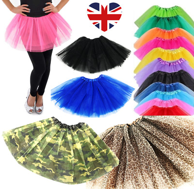 Long Tutu's Dance Fancy Dress 40CM High Quality Halloween HIGH QUALITY NEW UK • 3.99£
