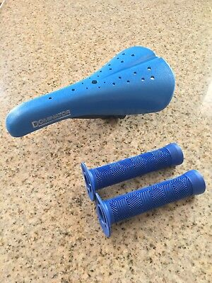$35.99 • Buy BLUE Viscount Dominator Old School Style BMX Seat W/ Grips