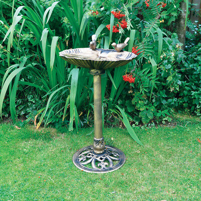 Kingfisher Wild Garden Bird Bath Bowl Bronze Effect Free Standing Happy Beaks • 32.99£