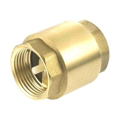 $2.99 • Buy 1  Inch NPT Pipe Female Thread Brass Spring Check Valve In-Line FPT One Way
