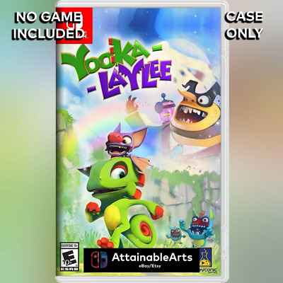 AU14 • Buy Yooka-Laylee: Game Case/Custom Cover (Nintendo Switch, 2017) - NO GAME INCL