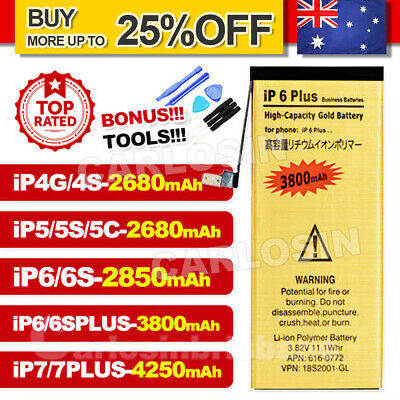 AU8.95 • Buy IPhone 4 4S 5 5S 6 6S 7 PLUS High Capacity Battery Replacement Tools For Apple