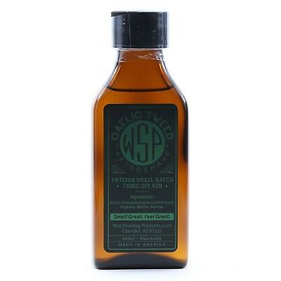 $25.99 • Buy WSP Men's Handcrafted Aftershave Splash Tonic (Gaelic Tweed) Handmade USA 100ml