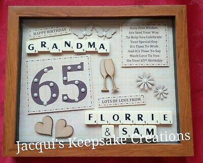 PERSONALISED 65th BIRTHDAY Gift Frame Picture Photo KEEPSAKE Present • 21.99£
