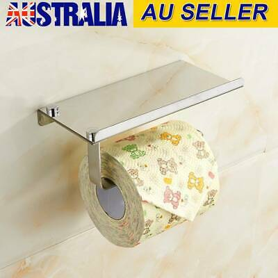 AU18.95 • Buy Stainless Steel Toilet Paper Roll Holder Storage Hooks Bathroom Washroom