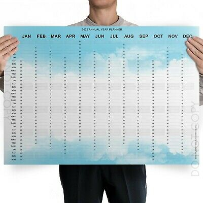 A1 A2 A3 A4 Large 2020 Year Wall Planner For Home/office/school Work Calendar  • 2.99£