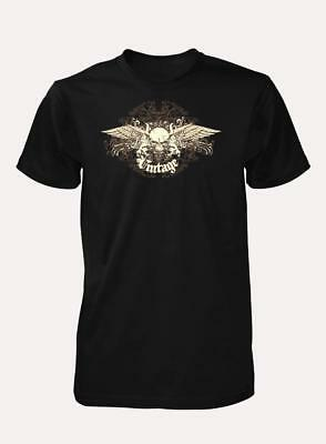 £9.49 • Buy Bnwt Vintage Skull With Angel Wings Rock Band Cool  Quality Adult T Shirt S-xxl