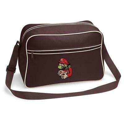 Bnwt Zombie Mario Gaming Fun Gift Messenger Shoulder Bag School College • 15.99£