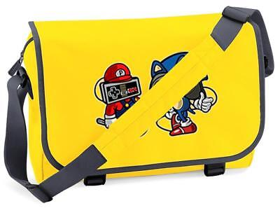 Mario Hedgehog Gaming Flight Messenger Shoulder Bag School College • 15.99£