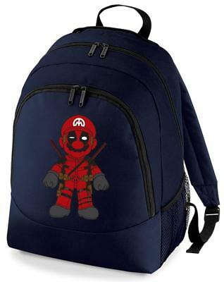 Bnwt Dead Mario Pool Gaming Deadpool  College Backpack Rucksack School Bag • 15.99£