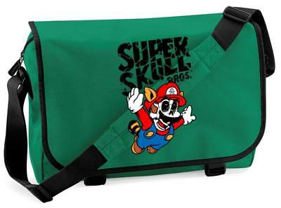 Bnwt Super Skull Mario Flying Gaming Messenger Shoulder Bag School • 15.99£