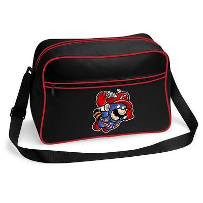 Bnwt Captain America Mario Gaming Superhero Mash Up  Shoulder Bag School College • 15.99£