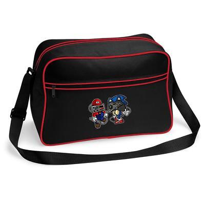 Mario Gaming Joypad Head Messenger Shoulder Bag School College • 15.99£