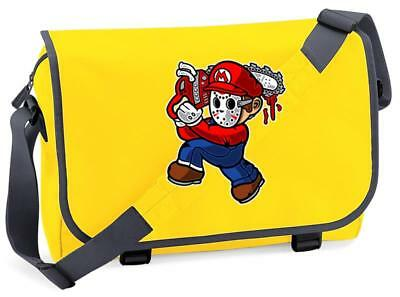 Bnwt Mario Jason Mask Killer Nintendo Gaming  Messenger Shoulder Bag School • 15.99£