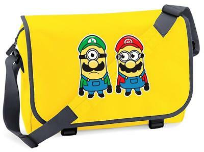 Bnwt Mario Bros Luigi Nintendo Gaming  Messenger Shoulder Bag School • 15.99£