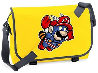 Bnwt Captain America Mario Gaming Superhero  Messenger Shoulder Bag School • 15.99£