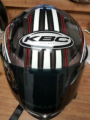 $49 • Buy KBC Force S Dynamo Full Face Helmet - Green/Black Size XS Tinted Extra Small