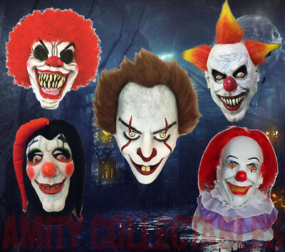 £10.99 • Buy SCARY CLOWN LATEX MASK Deluxe Adult Horror Overhead Party Halloween [CHOOSE]