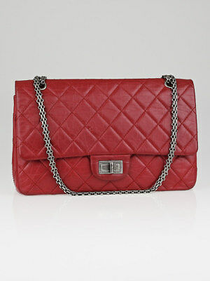 bfe8eee93a9 Chanel Red 2.55 Reissue Quilted Classic Calfskin Leather 227 Jumbo Flap Bag  • 3