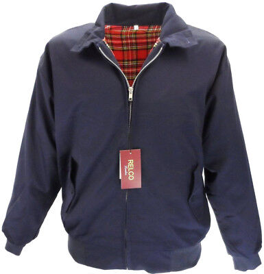 Harrington Jacket,  Navy Mod Retro Bomber - Relco • 40£
